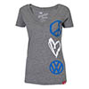 Peace Luv VW V-Neck T-Shirt Thumbnail