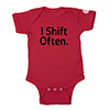 I Shift Often Onesie Thumbnail