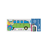 Retro Bus & Flowers Rear Window Decal