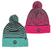 Pom Striped Knit Beanie Thumbnail