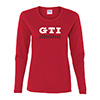 GTI Race Flag Ladies LS T-Shirt Thumbnail